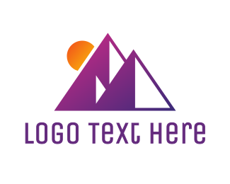 Pyramid - Abstract Purple Pyramid logo design