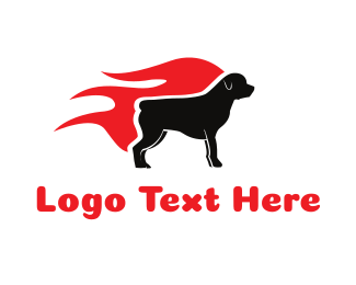 Kennel - Hot Rottweiler logo design