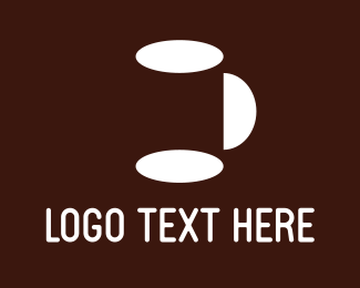 Dish - White Mug logo design