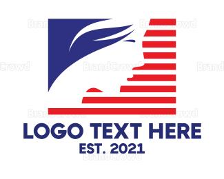 American Flag - Miss USA logo design