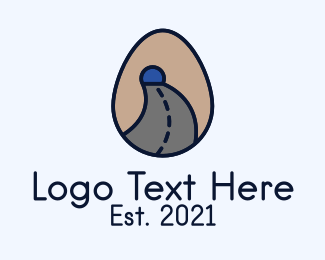 Road Trip - Road Tunnel Egg logo design