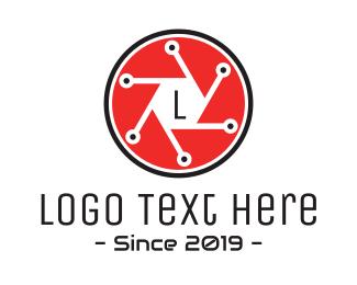 Paparazzi - Shutter Technology Lettermark logo design