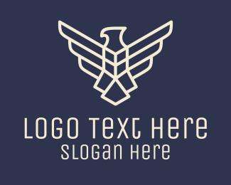 Falcon - Geometric Falcon Emblem logo design