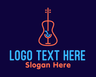 String Instrument - Music Bar Lounge logo design