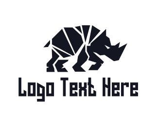 South Africa - Black Rhino logo design
