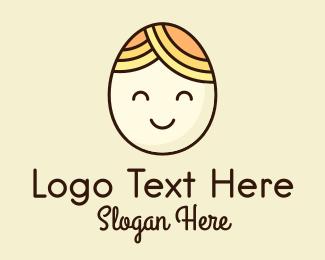 Celebration - Smiling Happy Egg Head logo design