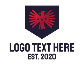 Rank - Red Eagle Shield logo design