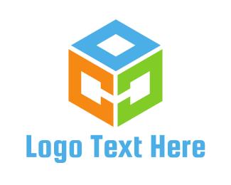 Dice - Cube COC logo design