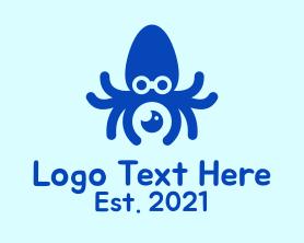 Squid - Blue Squid Photography logo design