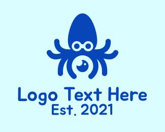 Photo Editor - Blue Squid Photography  logo design
