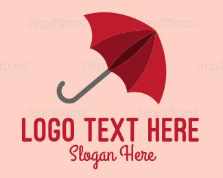 Umbrella - Red Umbrella logo design