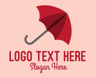 Weather - Red Umbrella logo design