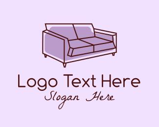 Lounge - Sofa Furniture Couch logo design