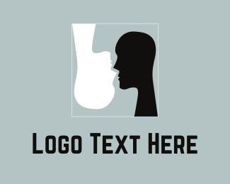 Interaction - Black & White Silhouettes logo design
