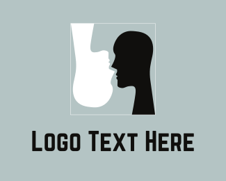 Face - Black & White Silhouettes logo design