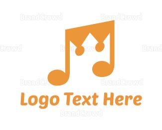 Crown - Music Crown logo design