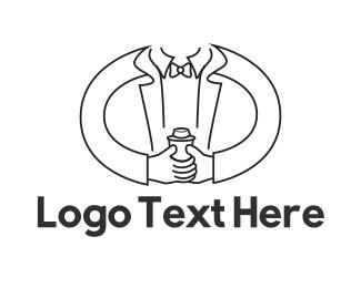 Waiter - Mixologist Bartender logo design