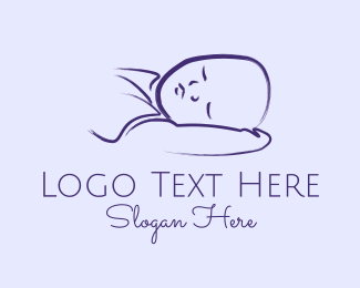 Maternity - Baby Boy Sleeping Kid logo design