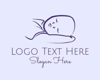 Arm - Baby Boy Sleeping Kid logo design