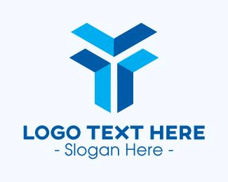 Cargo Service - Cargo Box Letter Y logo design