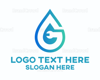 Liquid - Wrench Drop logo design