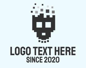 Punk - Pixel Skull logo design