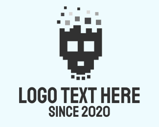 Skull - Pixel Skull logo design