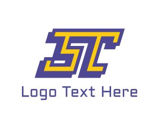 Linear - ST Sport Letter logo design