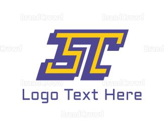 Tennis - ST Sport Letter logo design