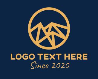 Geometric Shapes - Geometric Digital Mountain logo design