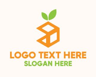 Nutritious - Orange Cube logo design