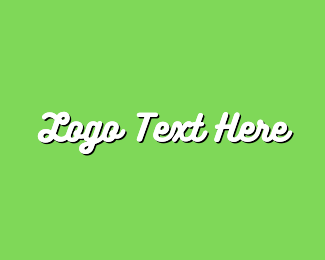 Text - White & Green Text logo design