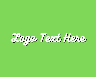 Text - White & Green Text logo design