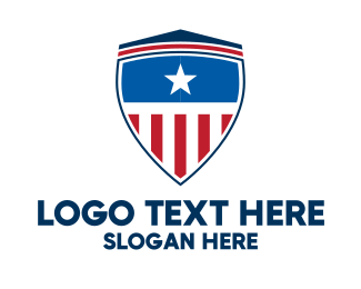 Captain - Captain America Shield logo design