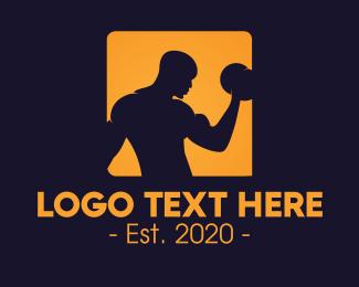 Gym - Orange Bodybuilding Gym logo design