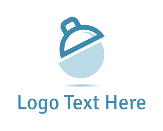 Photo - White & Blue Lamp  logo design