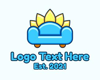 House - Cute Fluffy Sofa logo design