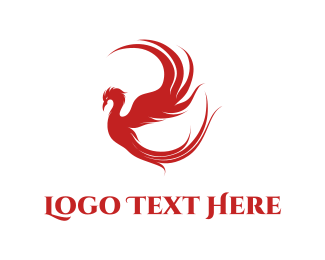 God - Red Phoenix logo design