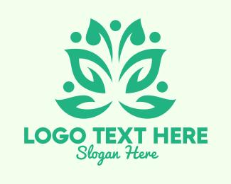 Pea - Green Environmental Community logo design