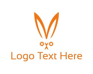 Ear - Orange Rabbit logo design