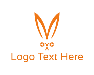 Hare - Orange Rabbit logo design