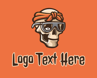 Skull - Bandana Skull logo design