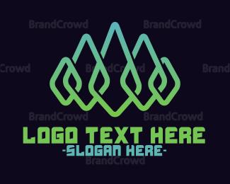 Pure - Gradient Leaf Crown logo design