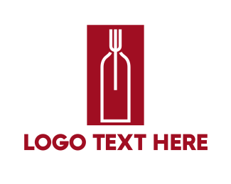 Food And Wine - Food Wine Restaurant logo design
