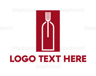 Catering - Food & Wine logo design