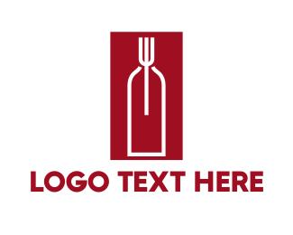 Food Wine Restaurant Logo