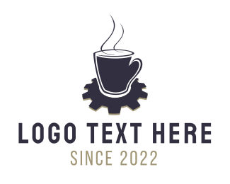 Cogwheel - Industrial Coffee logo design
