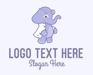Pediatrics - Elephant Children's Doctor logo design