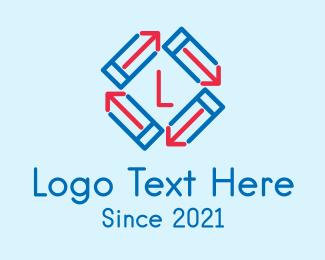 Review - Pencil Arrow Letter logo design