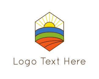 Landscape - Hexagonal Landscape logo design
